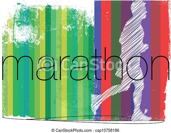 biegacz, abstrakcyjny, ilustracja, tło., wektor, maraton - csp10758186