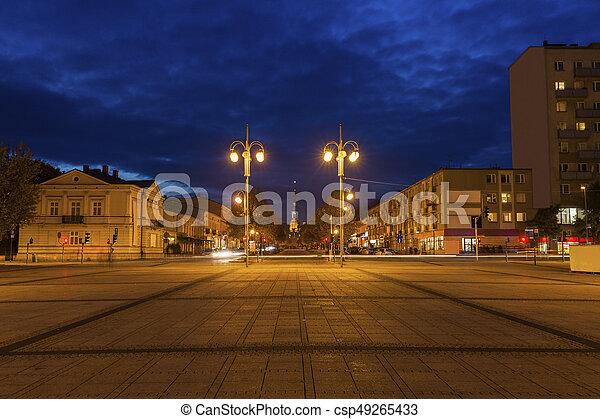Bieganski Square in Czestochowa - csp49265433