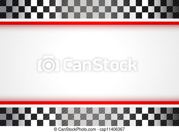 biegi, czerwone tło - csp11406367