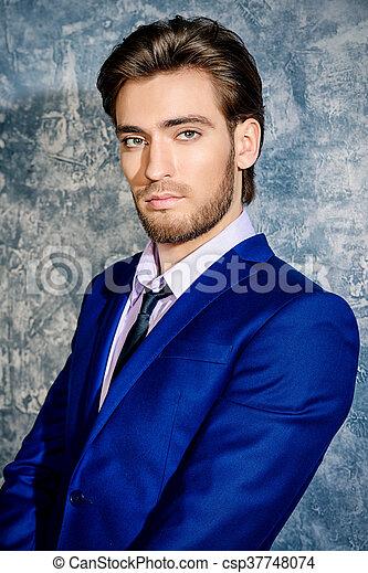 Bien Vestido Hombre Hombres Elegante Fashion Belleza