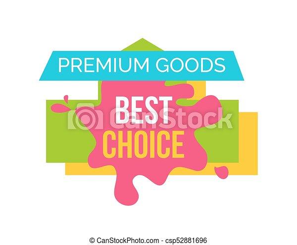 bienes, prima, ilustración, opción, vector, mejor - csp52881696
