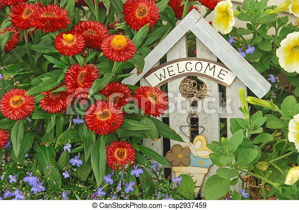 Bienvenido jardín - csp2937459