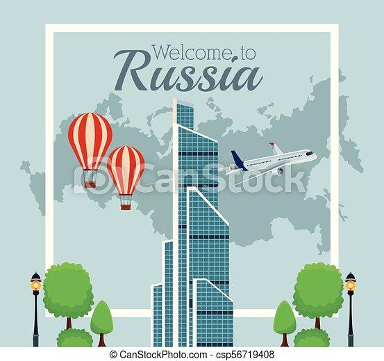 Bienvenido a Rusia - csp56719408