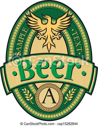 bier, ontwerp, etiket - csp15282844