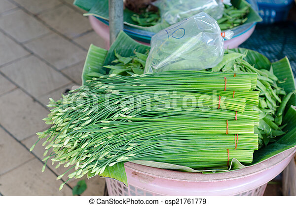 bieslook, thailand, markt, alhier, chinees - csp21761779