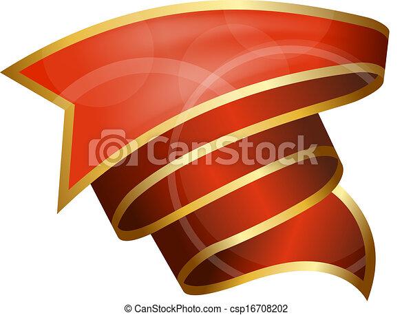 big, červené šaty lem - csp16708202