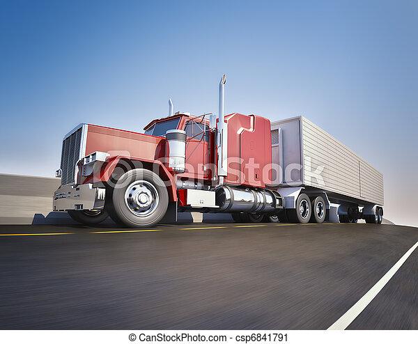 Big 18 wheeler - csp6841791