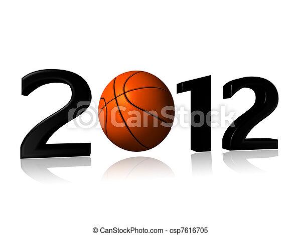 big 2012 basketball design - csp7616705