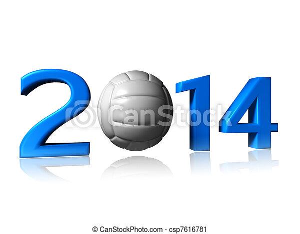 Big 2014 volley design - csp7616781