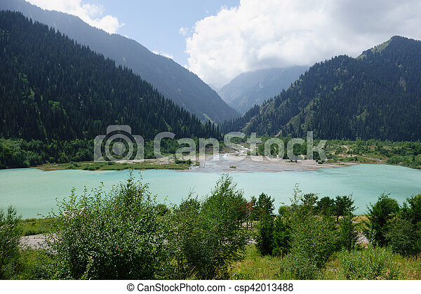 Big Almaty Lakeat the Ile-Alatau National Park - csp42013488