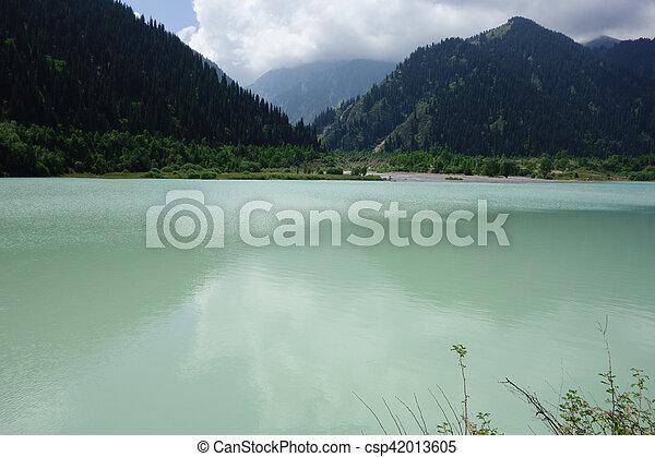 Big Almaty Lakeat the Ile-Alatau National Park - csp42013605