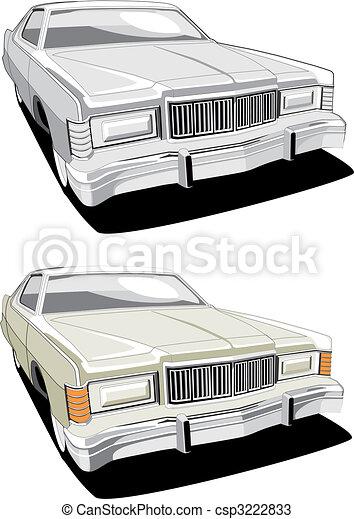 big american retro car - csp3222833