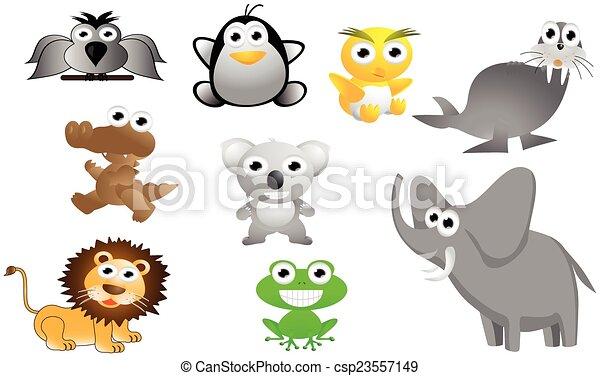 big animal cartoon set - csp23557149
