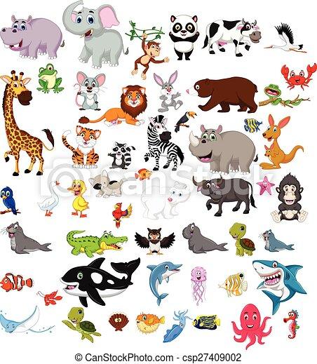 big animals cartoon set - csp27409002