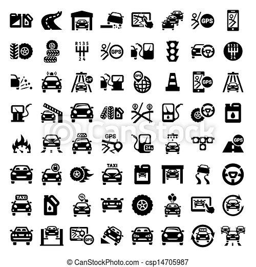 big auto icons set - csp14705987