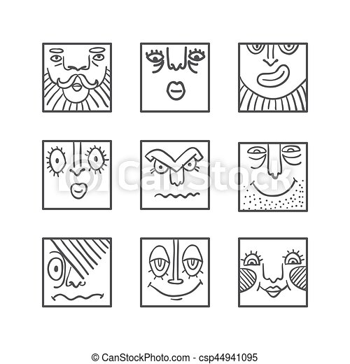 Big Avatar doodle icons collection