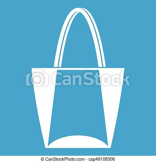 Big bag icon white - csp49108306
