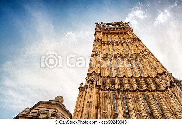 Big Ben and Houses of Parliament - London, UK - csp30243048