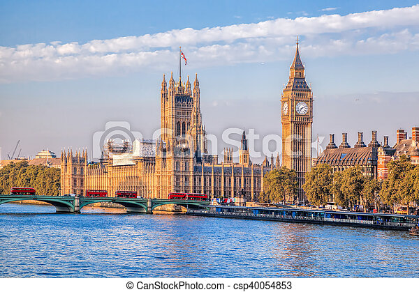 Big Ben and Houses of Parliament in London, UK - csp40054853