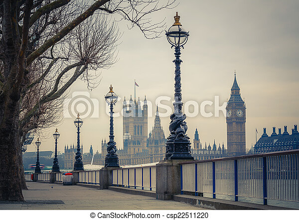 Big Ben and Houses of parliament, London - csp22511220