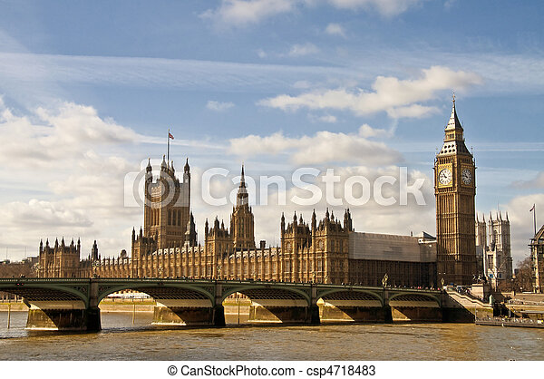Big Ben and houses of parliament - csp4718483
