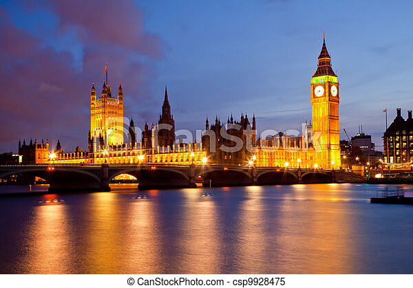 Big Ben and Palace of Westminster  - csp9928475