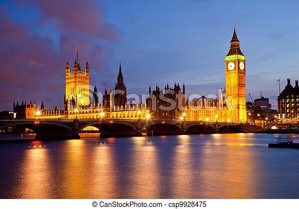 Big Ben and Palace of Westminster  - csp9928475