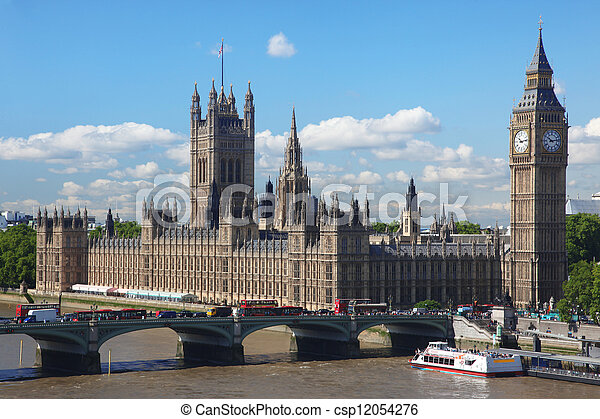 Big Ben and the House of Parliament in London, UK - csp12054276