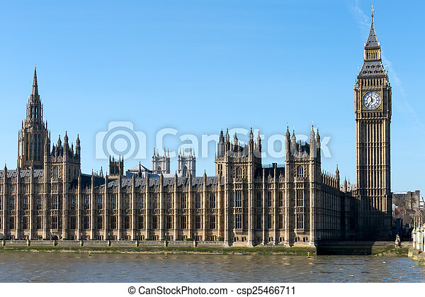 Big Ben and the Houses of Parliament in london - csp25466711