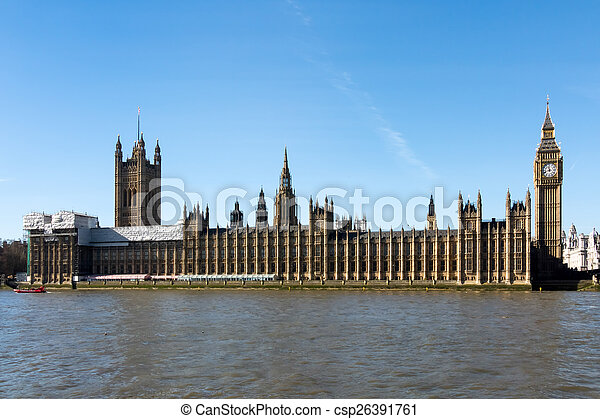 Big Ben and the Houses of Parliament in london - csp26391761
