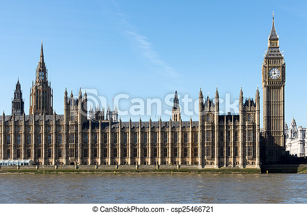 Big Ben and the Houses of Parliament in london - csp25466721