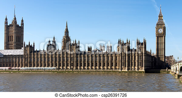 Big Ben and the Houses of Parliament in london - csp26391726