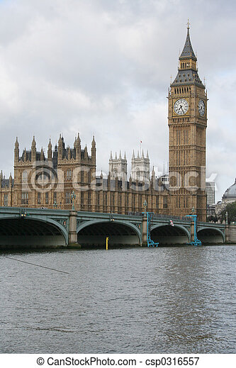 Big ben and westminster bridge - csp0316557