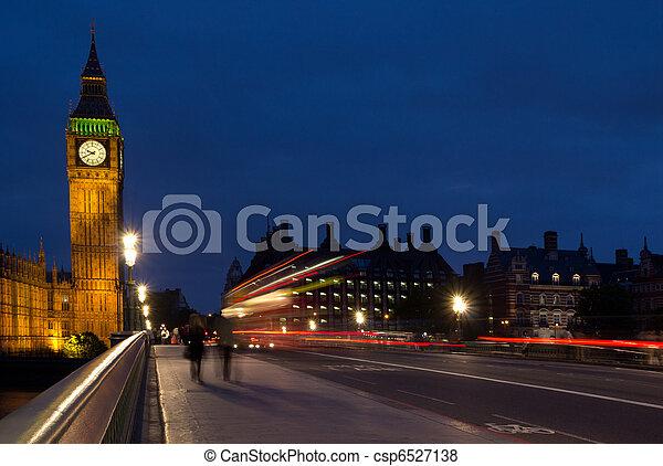 Big Ben and Westminster Bridge - csp6527138