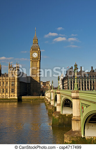Big Ben and westminster bridge - csp4717499