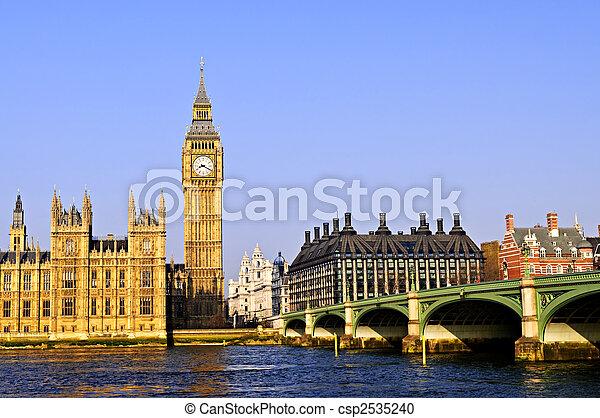 Big Ben and Westminster bridge - csp2535240