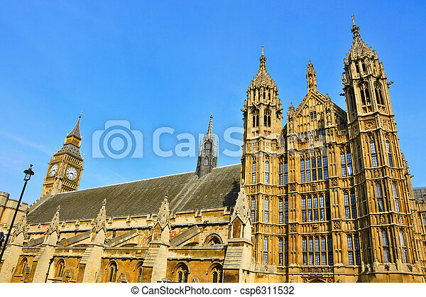 Big Ben and Westminster Palace, London, United Kingdom - csp6311532