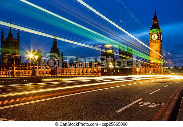 Big Ben at night, London - csp25665060