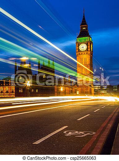 Big Ben at night, London - csp25665063