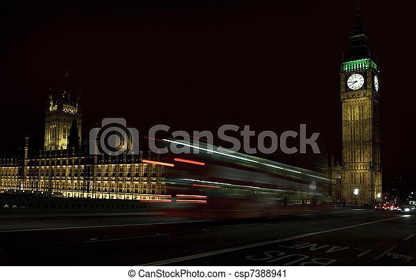 Big Ben at night - csp7388941