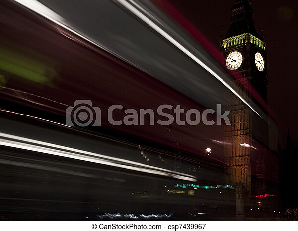 Big Ben at night - csp7439967