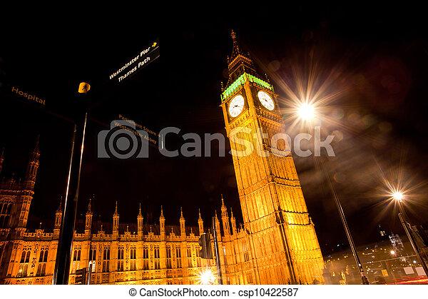 Big Ben at Night - csp10422587