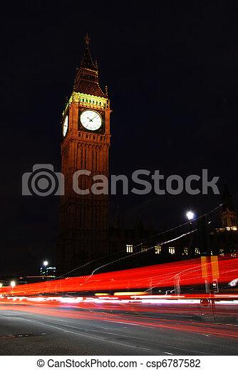 Big Ben at night - csp6787582