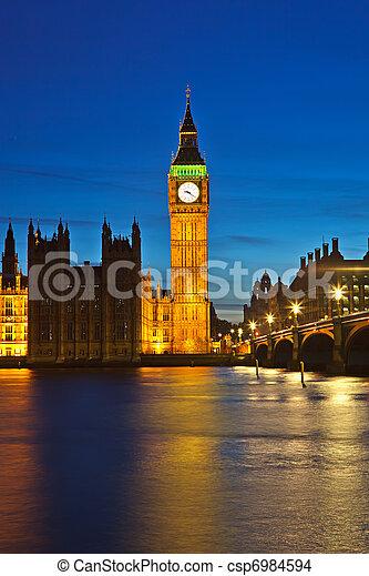 Big Ben at night - csp6984594