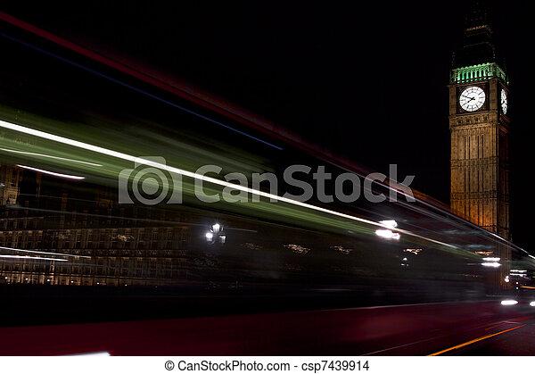 Big Ben at night - csp7439914