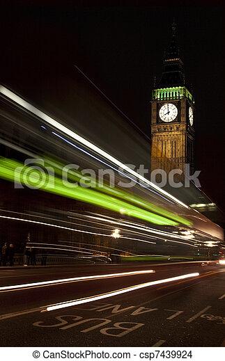 Big Ben at night - csp7439924