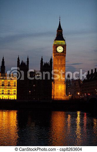 Big Ben at Night - csp8263604