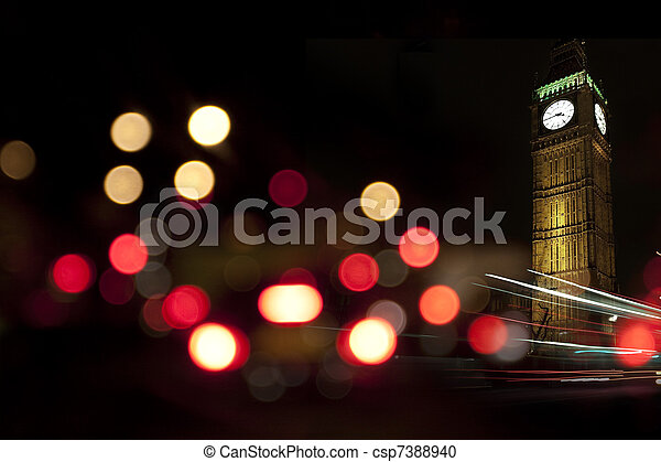 Big Ben at night - csp7388940