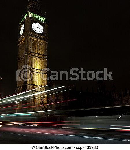 Big Ben at night - csp7439930