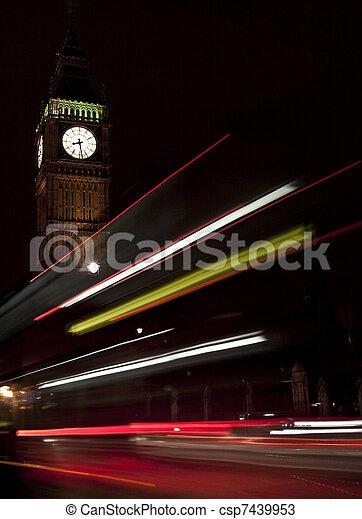 Big Ben at night - csp7439953